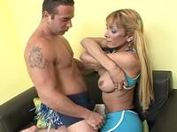 Busty Blond Latina Shemale Mutual Anal